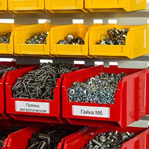 Пластиковые ящики для хранения крепежа